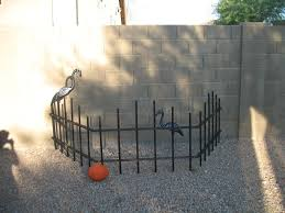 halloween cemetery fence 9 steps with pictures