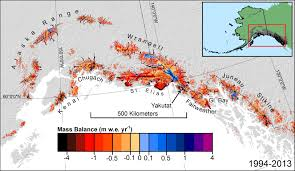 new study shows that as the climate warms melting of alaskan