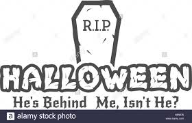 halloween rip label template with tombstone and typography
