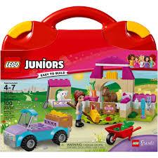 lego juniors mia u0027s farm suitcase 10746 walmart com