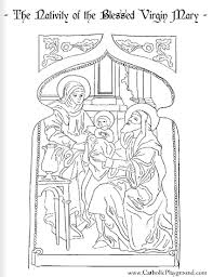 birth of jesus coloring page nativity or birth of the blessed virgin mary with st ann and st