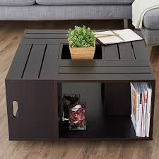 coffee tables appealing lbracket crate coffee table anything