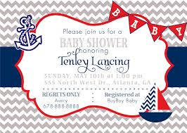 Baby Shower Invitation Cards Templates Free Sailor Baby Shower Invitations Marialonghi Com