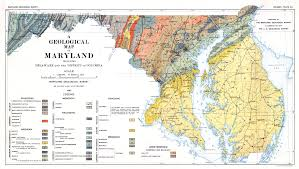 map of maryland a geological map of maryland