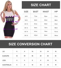 sizecharts can have sizes in based on uk and us sizes ideally a