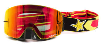 goggles motocross dragon new mx nfxs rockstar energy ionized yellow red tinted
