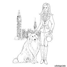 coloriage fille mode londres dessin