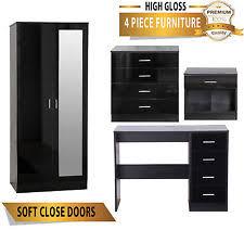 Black Gloss Bedroom Furniture Uk High Gloss Bedroom Furniture Ebay