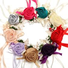 bridesmaid corsage bridal ribbon wrist flower bridesmaid corsage bracelet