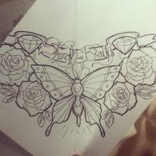butterfly and roses design by zombiieunicorn on deviantart