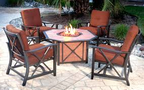 Patio Furniture With Fire Pit Set - fire pits down to earth living