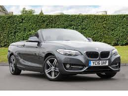 bmw convertible second bmw 2 series 2 0td 218d sport convertible diesel mineral grey
