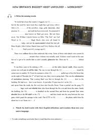 hatton garden burglary listening and vocabulary worksheet