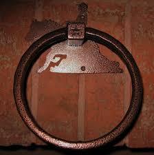 western bathroom decor reining horse design copper metal powder