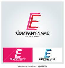 letter e logo design template line stock vector 589092320