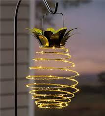 Patio Lighting Solar Hanging Solar Lantern Decoration Pineapple Bohemian Homes