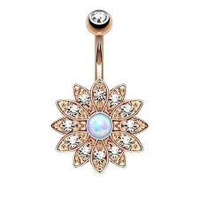 crystal belly rings images Elegant natural opal navel piercing ombligo body jewelry crystal jpeg