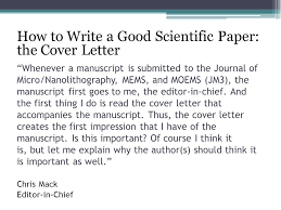 letter scientific journal submission sample