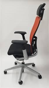 Zody Task Chair Haworth Zody Chair Mesh Back Fully Adjustable Model In Orange Black
