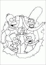 simpsons coloring pages coloringpages1001