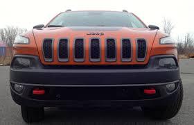 jeep cherokee trailhawk orange suv review 2015 jeep cherokee trailhawk v6 driving