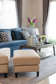 living room furniture ta luxury living room with blue classic sofa and pillows wooden ta