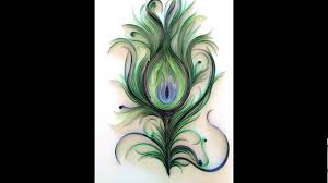 paper quilling peacock feather design youtube