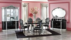 dining room cool black dining room designs with white dining