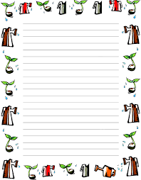 printable animal lined paper free online page borders seasons google search cute borders
