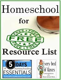 home essentials list every bed of roses homeschool 4 free resource lists homeschool