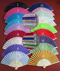 wholesale fans aliexpress buy 18 colors with free shipping 50piece lot