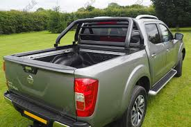 nissan navara 2017 sport nissan navara np300 hawk roll bar black fits with tonneau cover