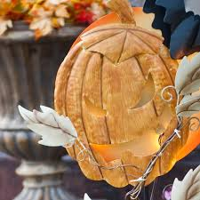 halloween pumpkin light stake christmas world