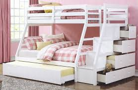 Bunk Bed Sets Acme 37105 Jason White Finish Wood Bunk Bed Set
