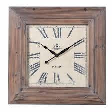 square wood wall large wood wall clock mo s