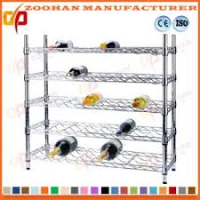 china adjustable metal chrome wine rack shelf display storage