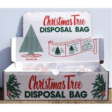 christmas tree removal bags standard size with display