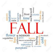 fall or autumn word cloud concept with great terms such as