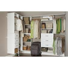 shop estate by rsi 9 5 ft x 3 ft white wood closet kit at lowes