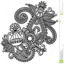 moroccan henna silhouette hand drawn abstract henna mendie