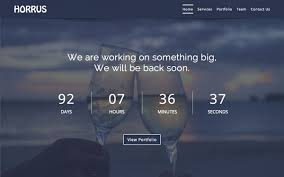 horrus coming soon template bootstrap landing pages