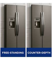 cabinet depth refrigerator dimensions what is the standard depth of a counter depth refrigerator