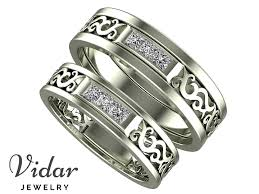 unique matching wedding bands unique diamond matching wedding bands vidar jewelry unique