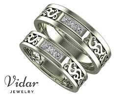 matching rings unique diamond matching wedding bands vidar jewelry unique