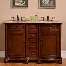 Bathroom Vanity Wood by Shop Silkroad Exclusive Floyd Medium Wood Tone Undermount Double