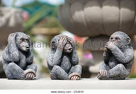 three wise monkeys no evil stock photos three wise monkeys no