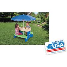 little tikes easy store jr picnic table little tikes easy store jr play table with umbrella isaac abby