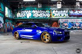 bmw m6 blue san marino blue bmw m6 with bronze strasse wheels gtspirit
