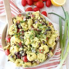 recipes for pasta salad mexican tortellini pasta salad recipe whitneybond com