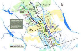 100 Year Floodplain Map Upper Llagas Maps And Photos Santa Clara Valley Water District